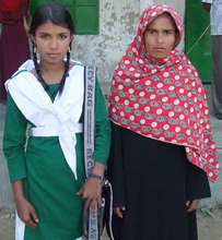 Scholarship Recipient with her Mother