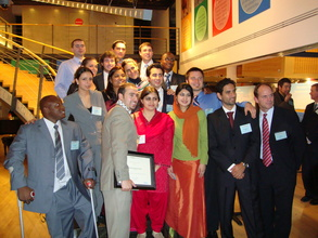 Fredrick with other 2009 Fellows