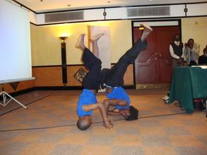 A disability dance troupe