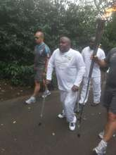 Carrying the paralympic torch