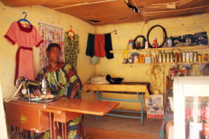 Mrs Ogeroju in her shop