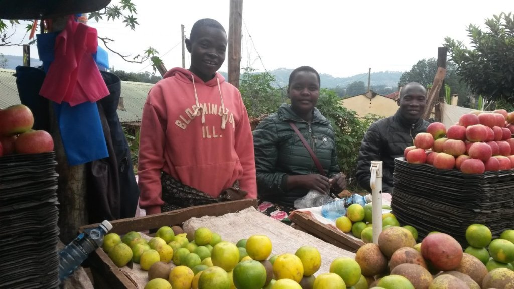Risper selling her fresh produce