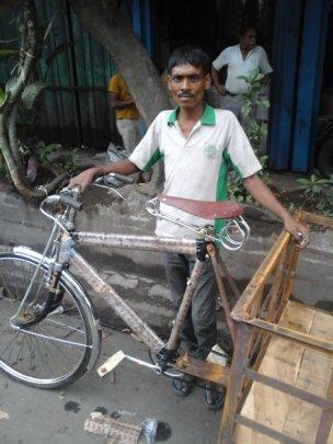Mohan before his van was stolen