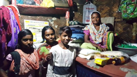 Hamuda - supports family of 5 on Rs1500 a month