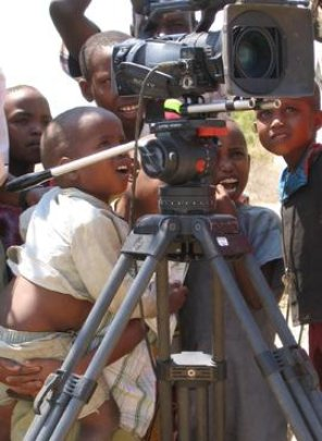 Children interested in filming