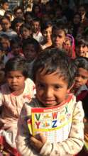 A preschool student in Rangpur slums