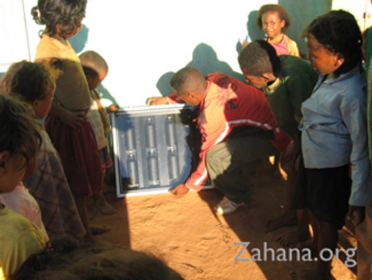 Solar water pastuerizer tested at the school