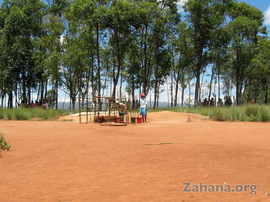 The new well by the school