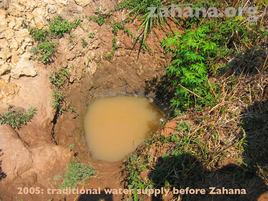Water supply before Zahana