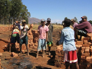 Building the school and everybody helps