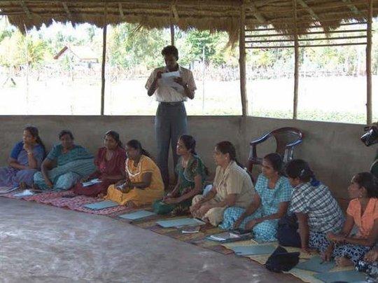 Women meeting.