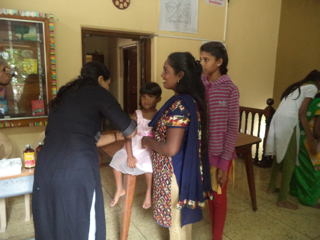 Doctor administering the vaccine