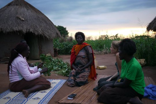 Oromo and friends, at Oromo's home