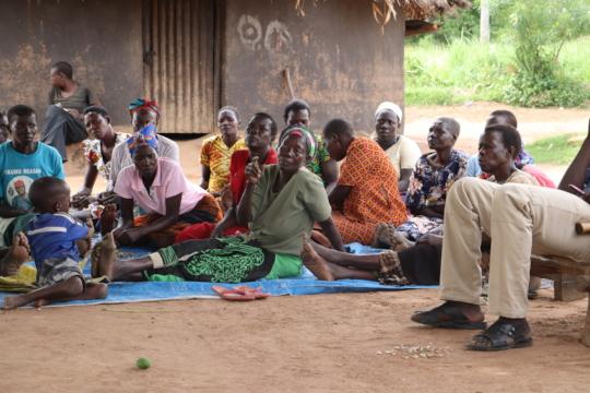 Women farmers during training