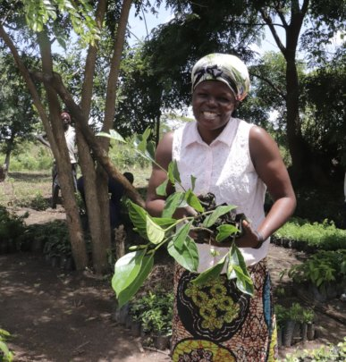 Women caring for future trees