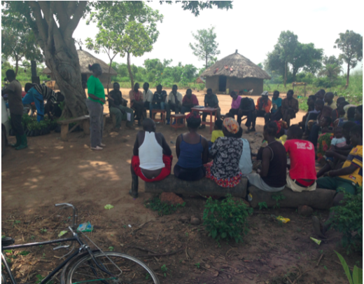 Outreach trainings with local villages