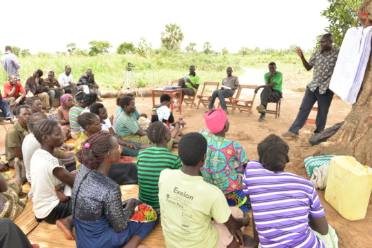farmers learning about climate change adaptation