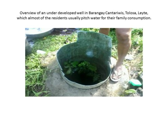 Underdeveloped Well
