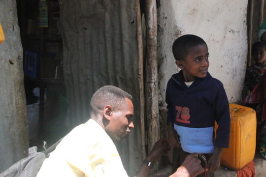 Our first beneficiary,  Temesgen