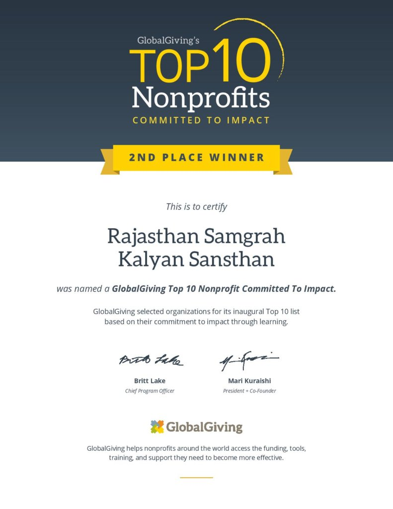 RSKS at 2nd Rank Amongst the 10 Top Non Profit