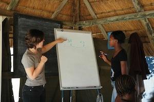 Volunteer teaching Maths
