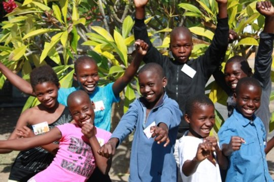 Happy children at Daktari
