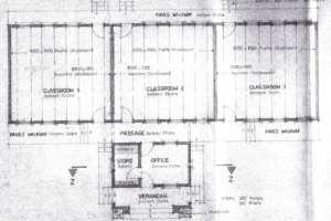 Floor plan of proposed extended nursery school