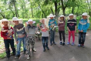 Kids after coming to our apiary