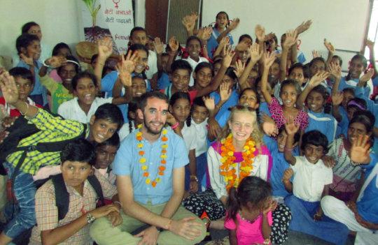 Evaluation team Enjoyed with RSKS Children