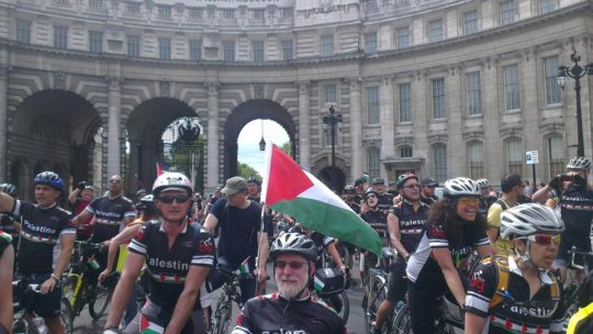 The BigRide 2015 raised awareness about Palestine