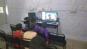 IELC students attending online class