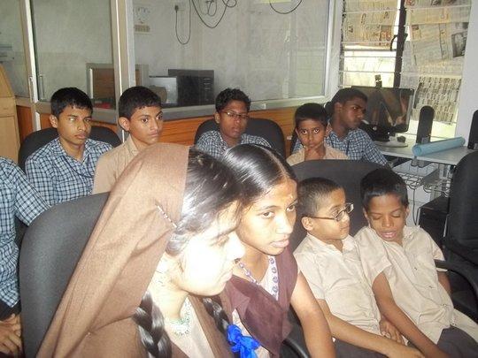 Children at Chakshumathi blind school, Kerala