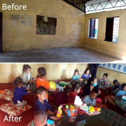 Pre-school classroom transformed