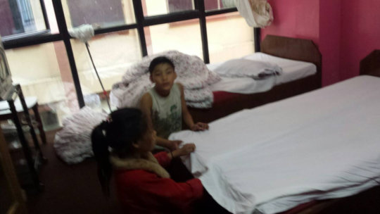 Young children rescued from a hostel