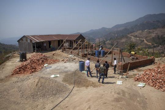 Work underway on new classrooms in Makwanpur