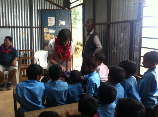 Carol Vernal visiting TLC in Kavre VDC