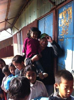 Sanjeeb with children