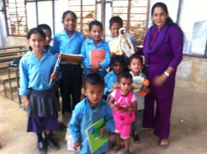 Nya Goyan School Students with Teacher