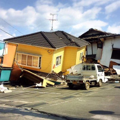 Destruction from the quakes in Japan