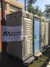 Latrines to support evacuation centers