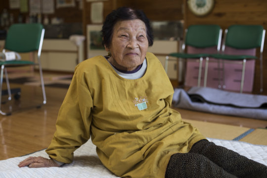 Yukie is among the quake-affected individuals
