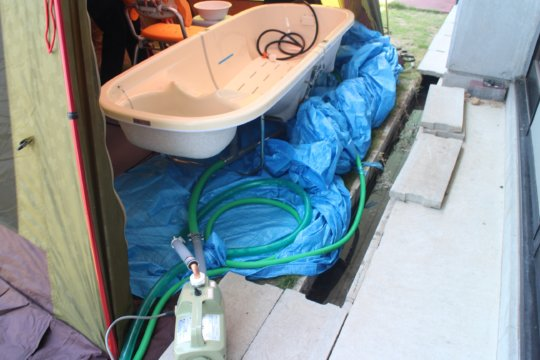 A bathtub for elderly and disable people
