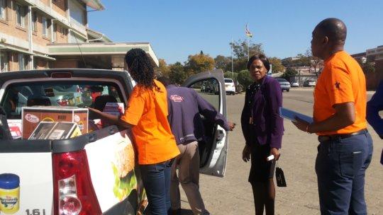 Bringing goodies to children fighting cancer