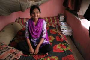 Rita Akter, one of the students graduated in Dhaka