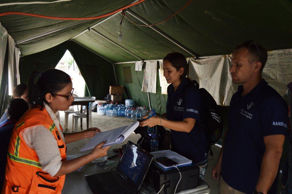 All Hands Volunteers coordinating relief work