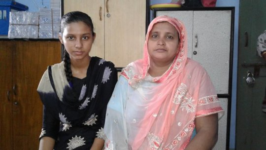 Ayesha and her mother