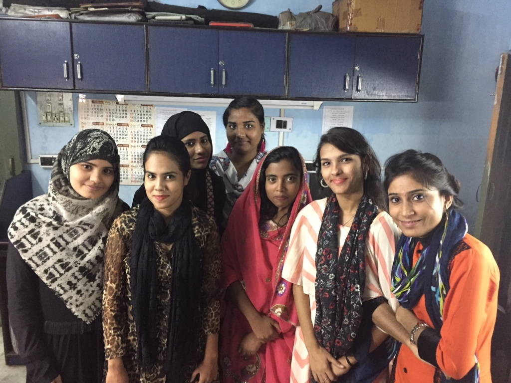 Girls from the slum attending college