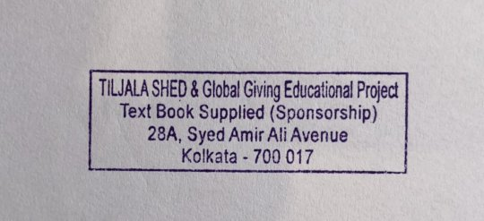 Labels go in all books purchased for the girls