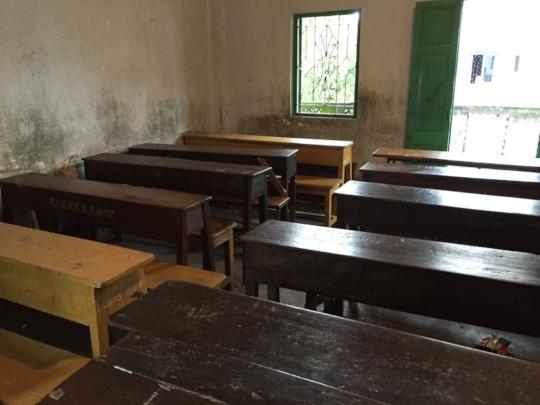 A classroom at the school