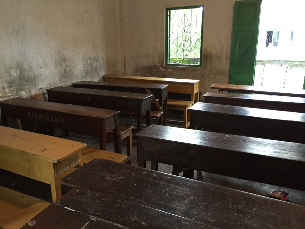 A classroom at the school